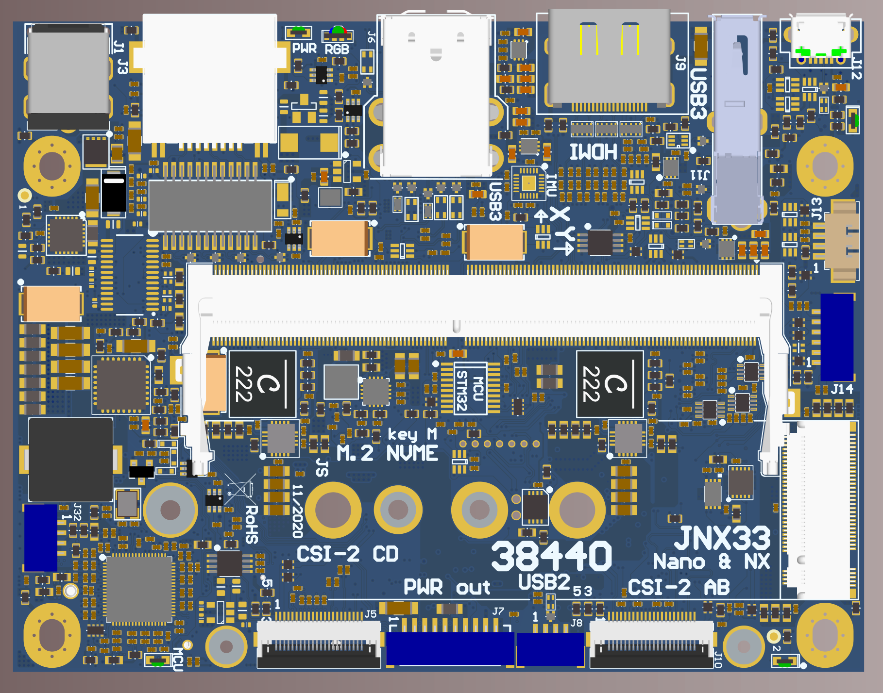 JNX33 carrier board for Jetson Nano and Xavier NX