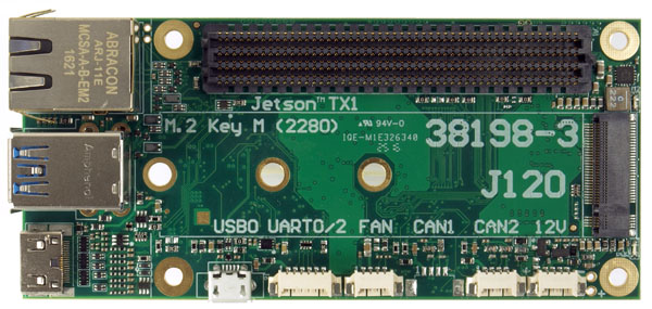 J120 carrier board for the Jetson TX1