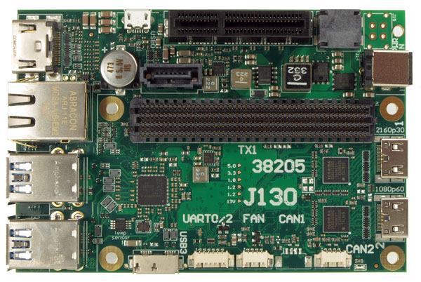 J130 carrier board for the Jetson TX1