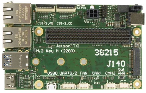 J140 carrier board for the TX1