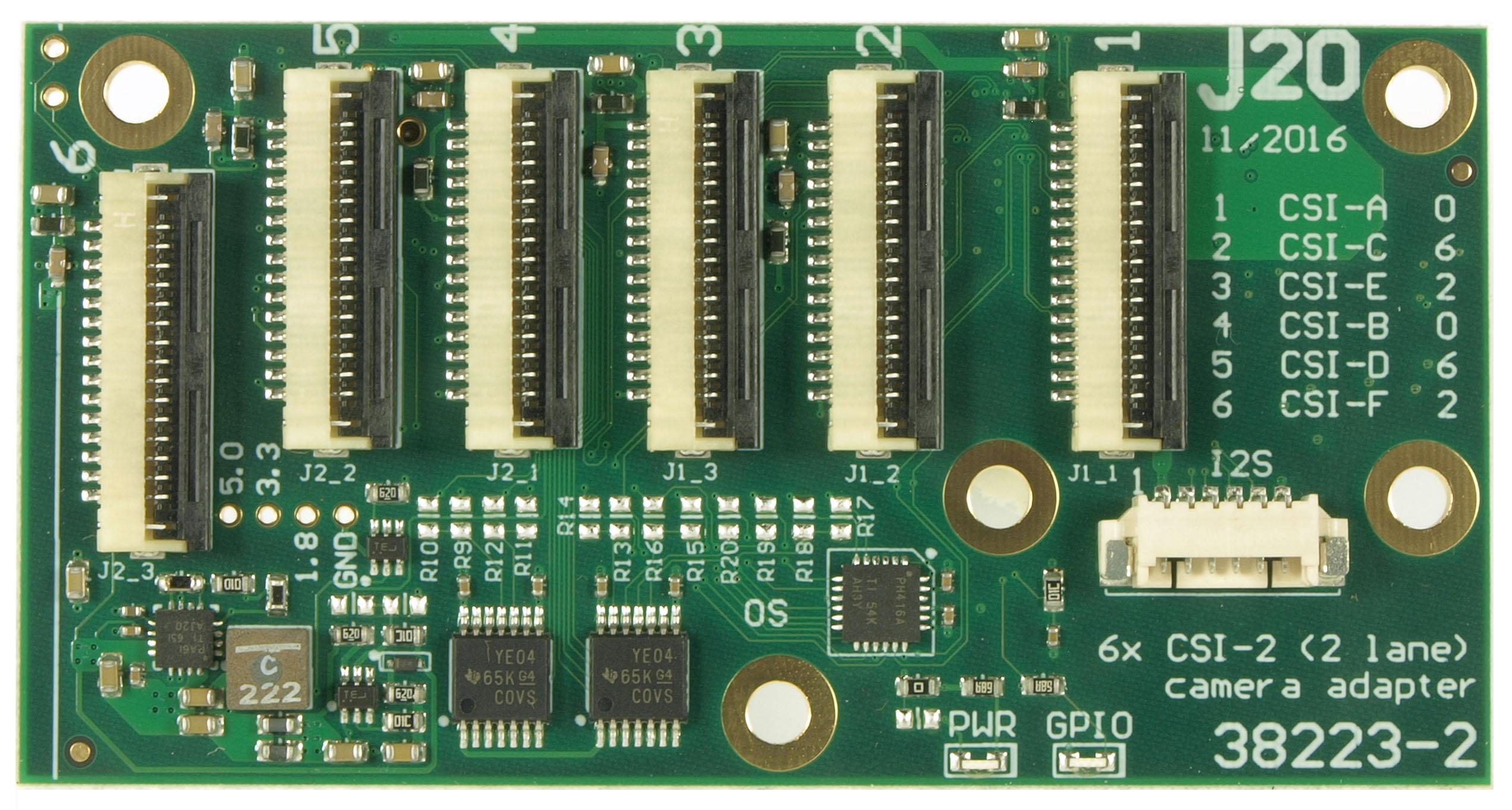 J20 add-on module for the Jetson TX1 development kit
