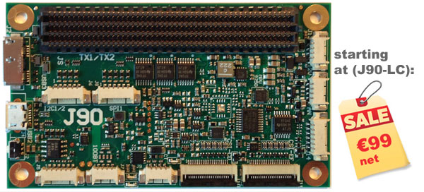 J90 carrier board for the TX1/TX2
