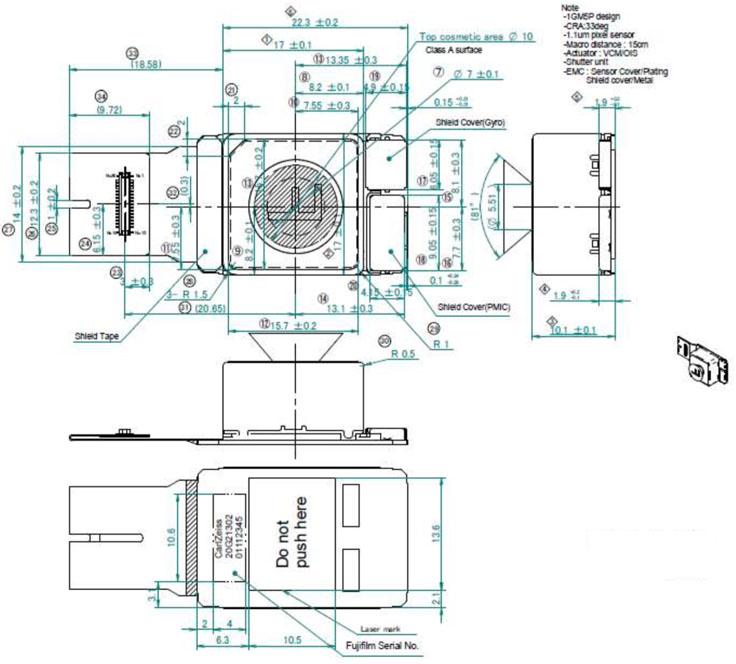 41.5 MP CSI-2 camera module (Toshiba TCM8647MD) Raspberry Pi Camera Schematic on
