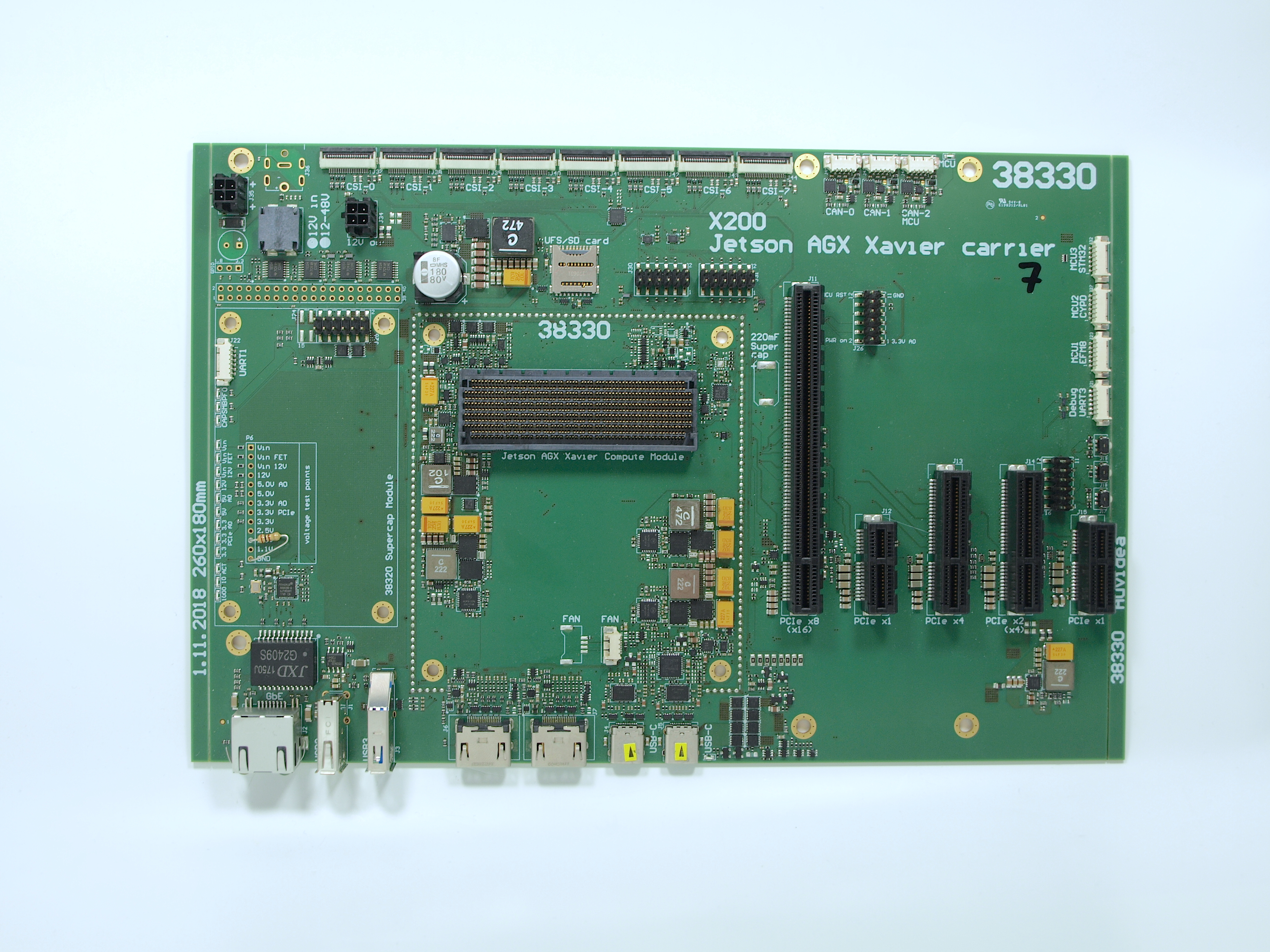 X200 Jetson AGX Xavier carrier board with 5 PCIe slots